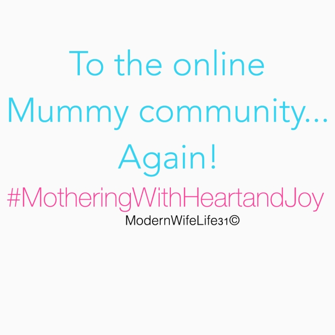 to the online mummy community again