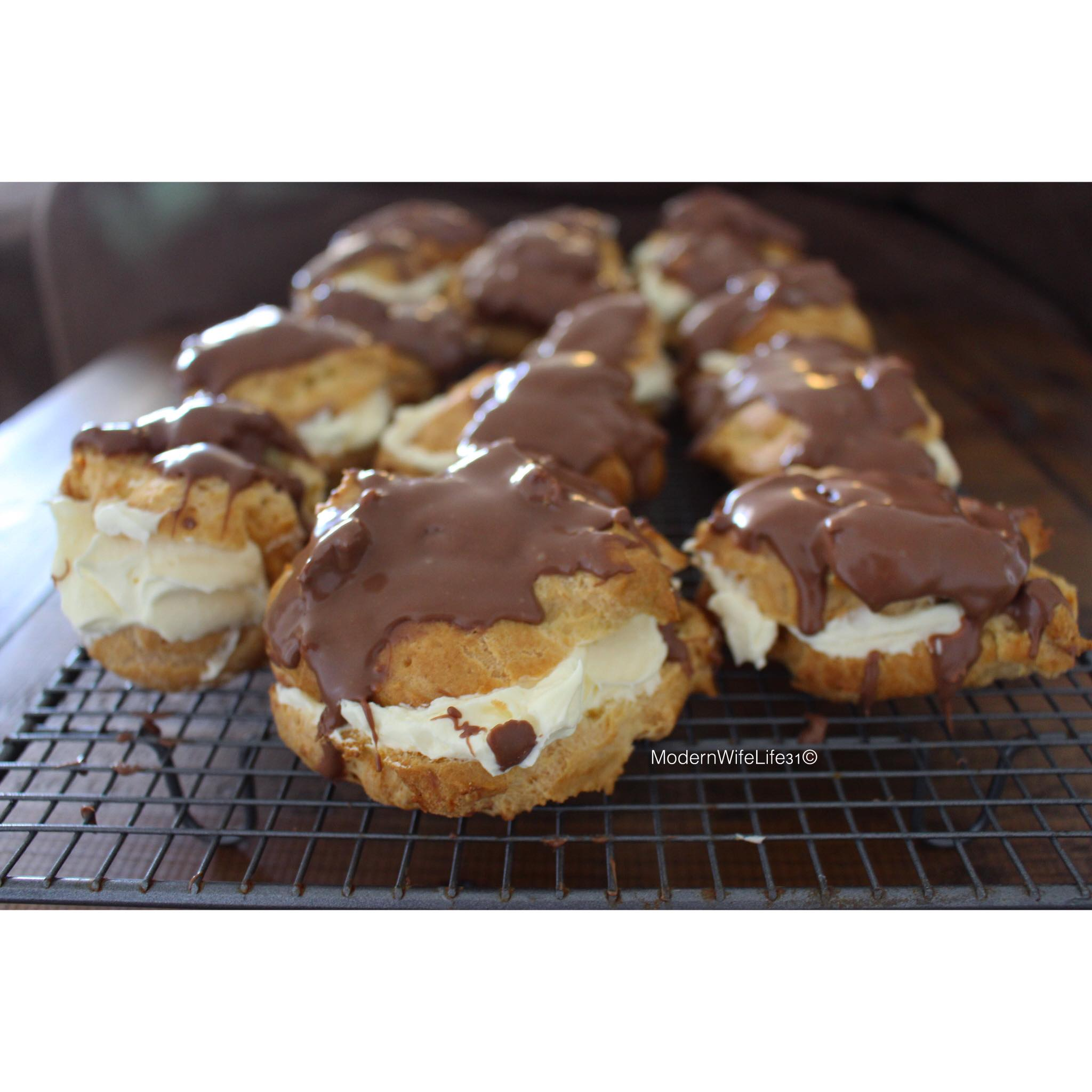 chocolate eclairs modernwifelife31